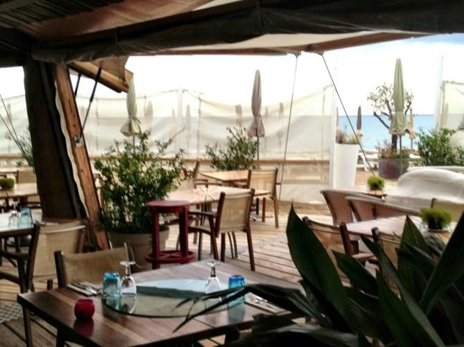 Beach clubs in Sete, France