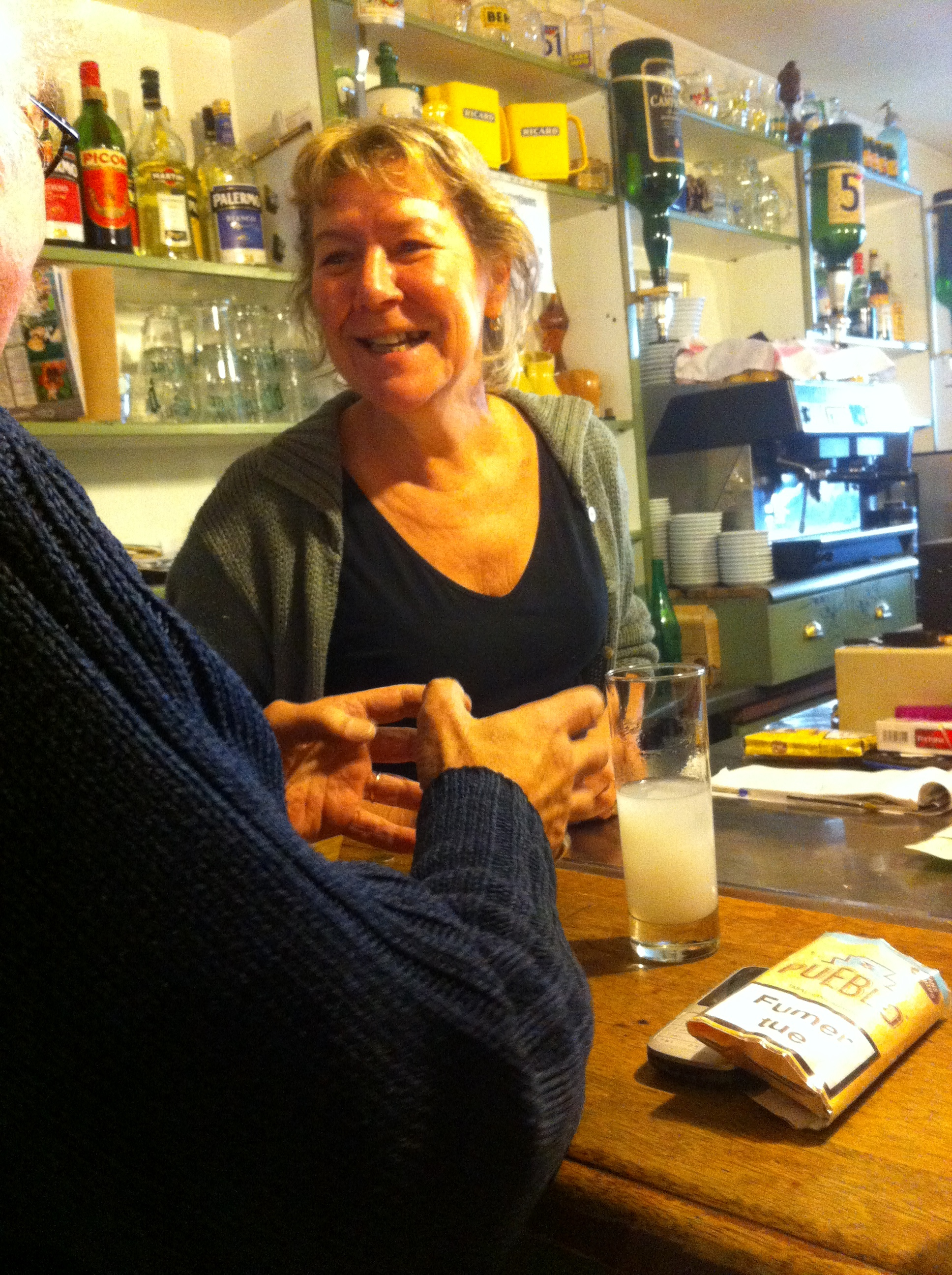 Cafe server, Blauzak