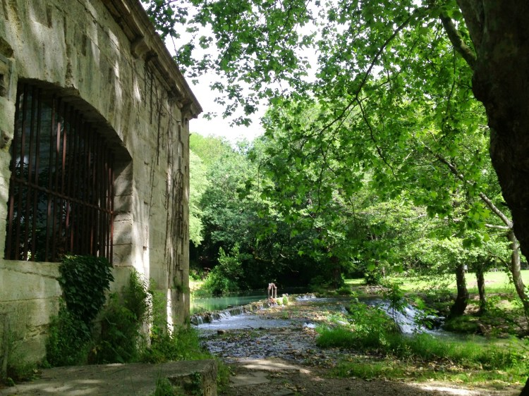 Abandoned mill at the river