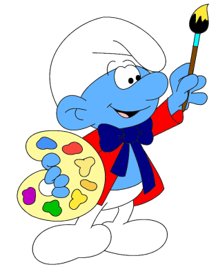 The Smurf characters originated in France.