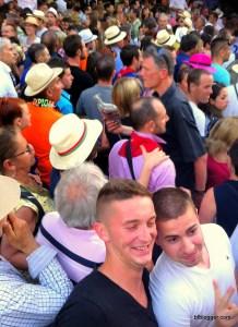 Feria crowd in NImes