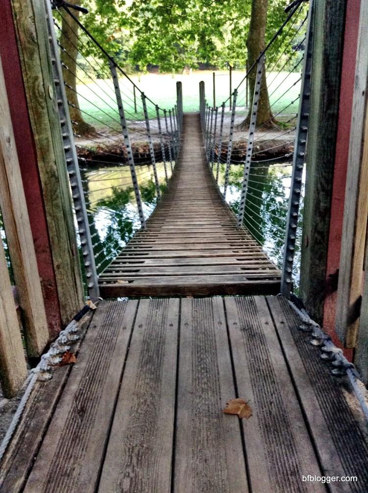 The swinging bridge at Valle d'Eur Uzes France