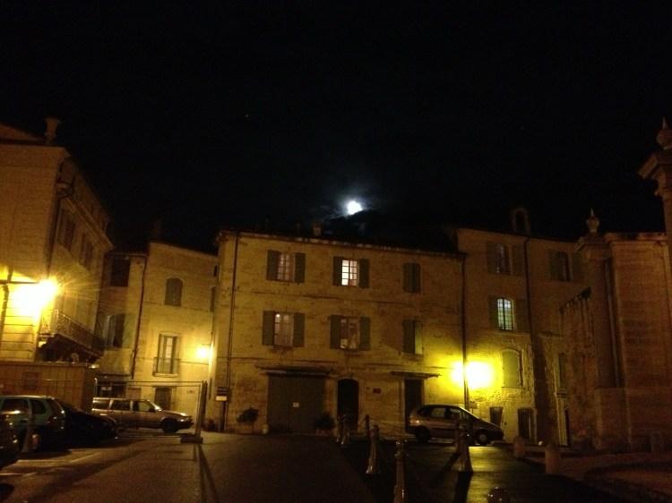 Moon over Uzes 10-09-2014