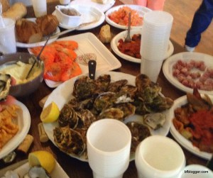 Oysters, Shrimp, Tapenades at Artists' Fete in Uzes, France