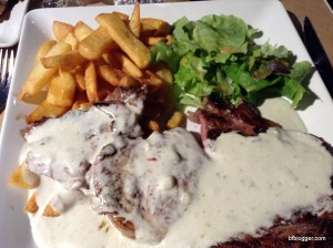 Entrecote and Frites in Avignon, France