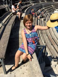McKenna at the ancient arena in Nimes
