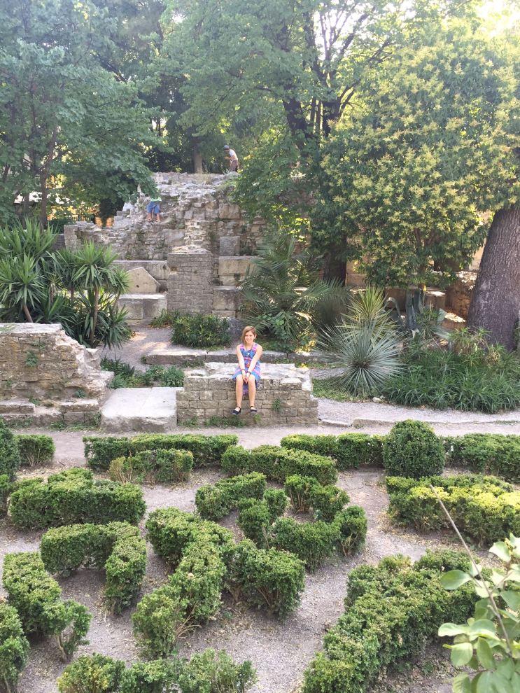 Time out at the Jardins de la Fontaine