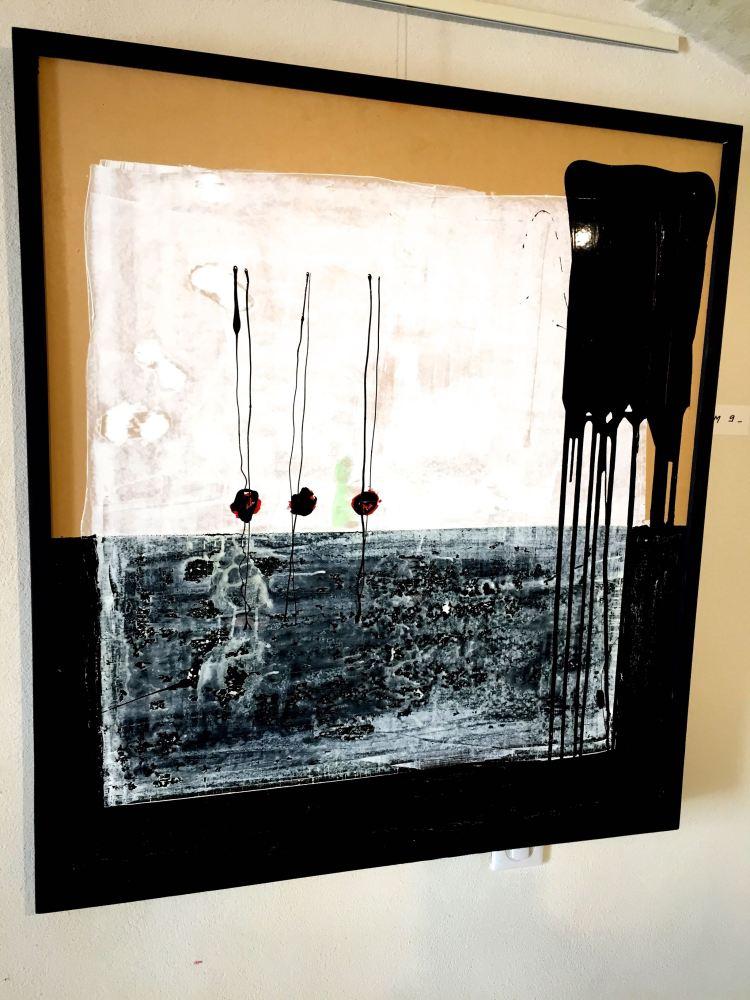 Painting by Mathieu, Deviation Exhibit, Uzes
