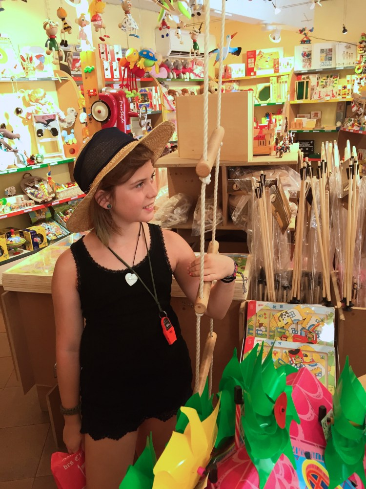 In the toy store