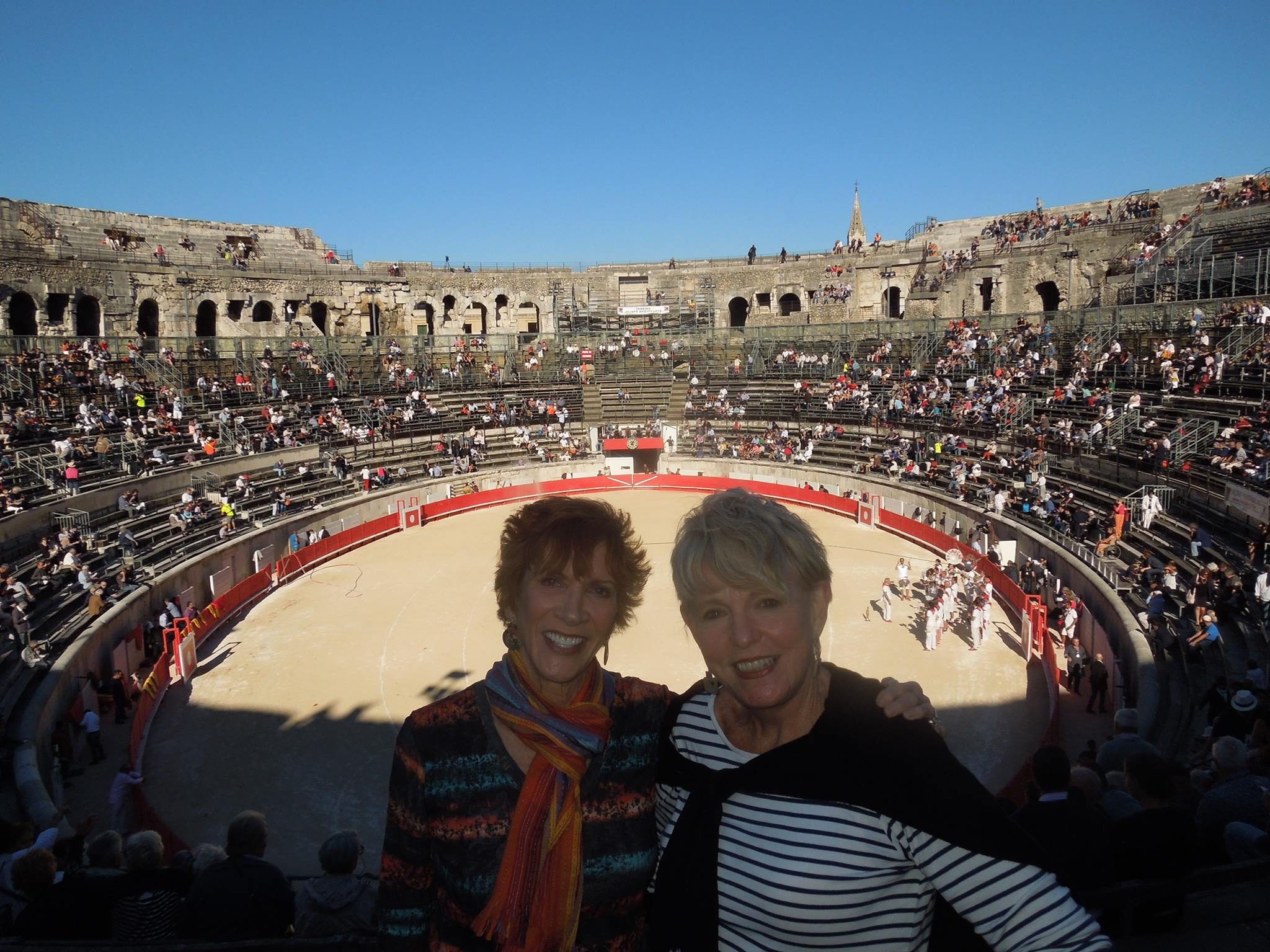 American friend, Paula and me in the Nimes Arena