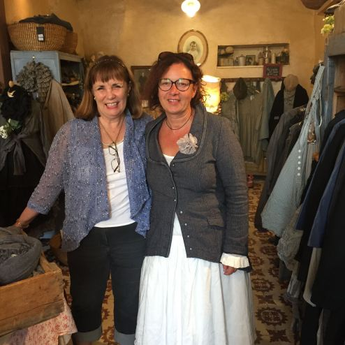 Fiorina and Christina at L'atelier des Ours