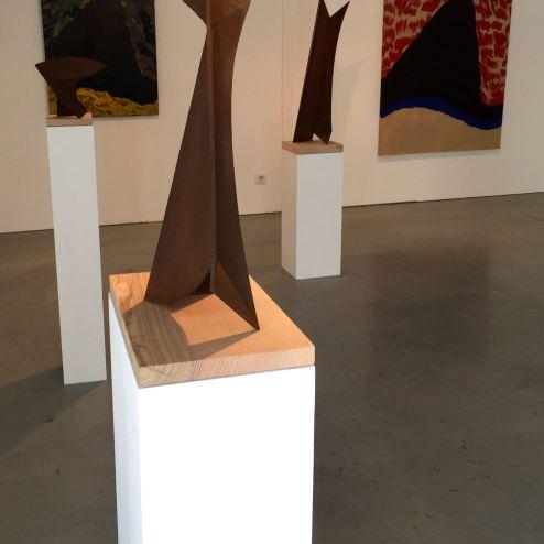 An art exhibit upstairs!