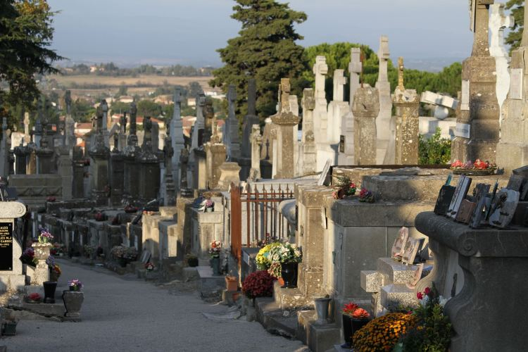 Cemetery in France