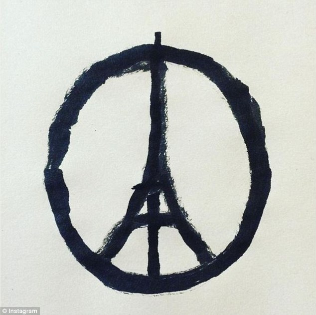 The artist: Frenchman Jean Jullien created the graphic as a reaction to hearing about the attacks Read more: http://www.dailymail.co.uk/femail/article-3319793/When-brush-paper-thing-came-Artist-Eiffel-Tower-peace-symbol-reveals-reactionary-origins-doesn-t-want-fame-it.html#ixzz3rfJ3qWGa Follow us: @MailOnline on Twitter | DailyMail on Facebook