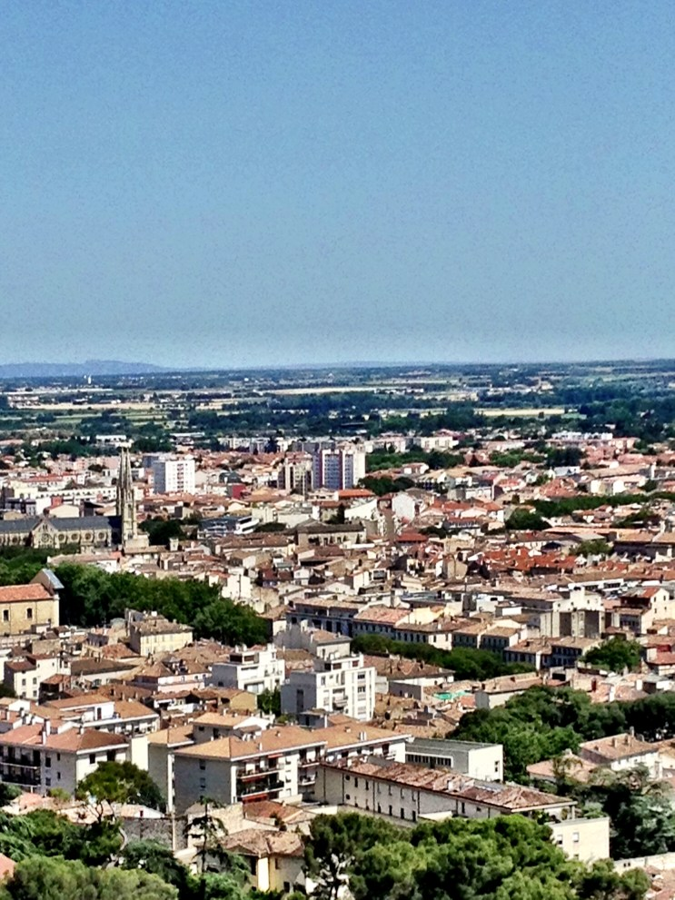View of Nimes from atop Tower Magne