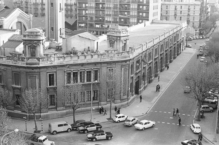 Vista del Cuartel Central ( Parc de L´Eixample ) en 1960