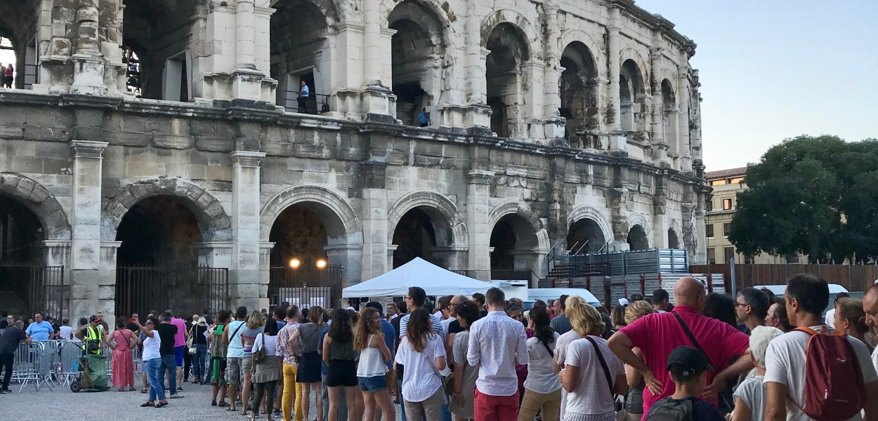 Summer Concert in Nîmes' ancient arena