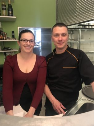 Owners and Chef: Rachel and Patrick