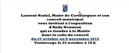 Invitation to Exhibit in Cavillargues Oct23-Nov 8