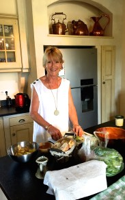 Jane preparing lunch for our visit