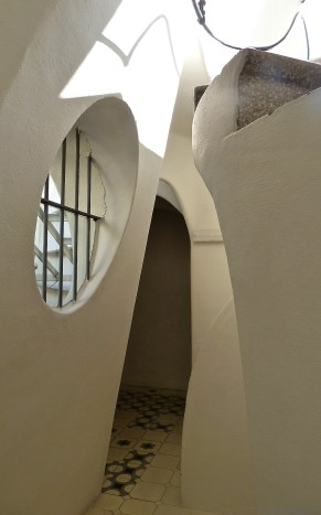 Stairway to the roof at Casa Batlló