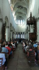 Concert in the Church of St Pierre, Auxerre.