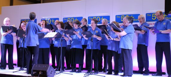 BFCS in Harmony singing at the 50+ exhibition (NEC)