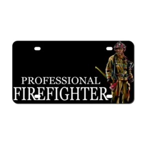 Professional Firefighter plate