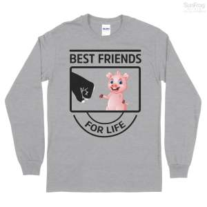Best Friend Pig Tank Top Long Sleeve Tee