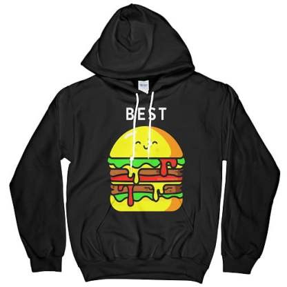 Burger and Fries Best Friend Hoodies For 2