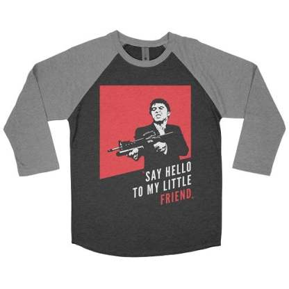 Say Hello To My Little Friend Baseball Tee Shirt