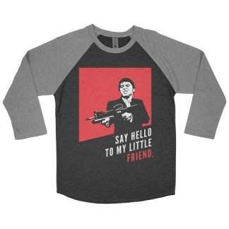 Say Hello To My Little Friend Baseball Tee Shirt