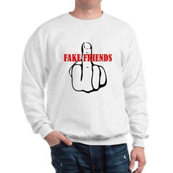 Middle Finger Fake Friends Hoodie