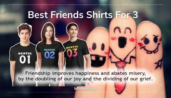 Best Friends Shirts For 2, 3, 4 Banner by bffshirts.com
