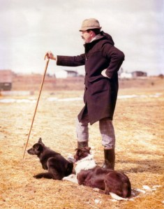 L. Brian Nettleton with border collies