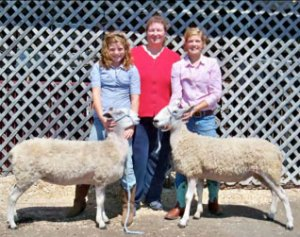 Maddie Fraley, Lisa Rodenfels, and Alex Fraley at the Ohio Stark Co. Fair, September 2010.