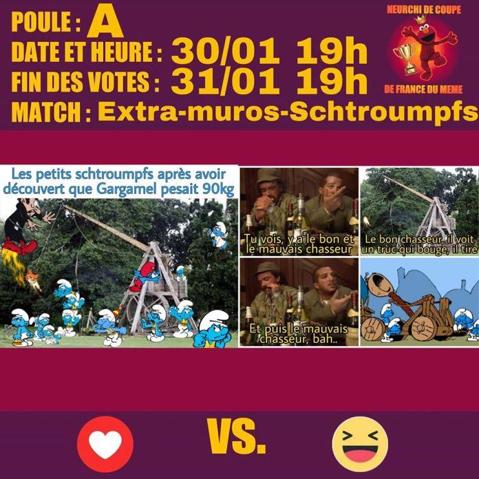 Match 2 Schtroumpfs vs Extra-muros