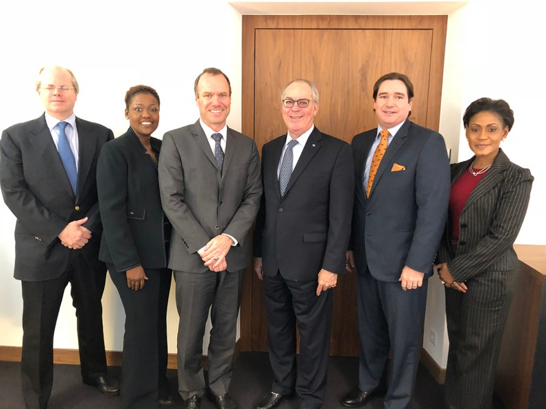 Bahamas Delegation and senior executive Andreas Rentschler of UBS Group AG