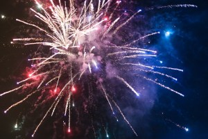 Firework in night sky, one of flammable, Non-storable items you should avoid