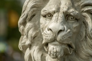 A bust of a lion