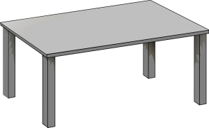 An empty table