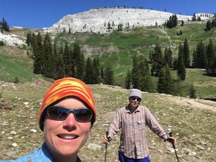 Emily Sinkhorn and Erin Kelly -- pictured here in the Marble Mountain Wilderness.