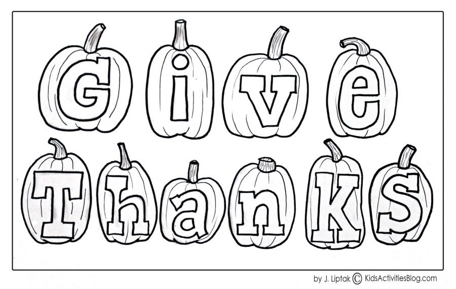 10 Thanksgiving Coloring Pages