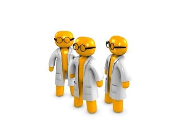 3d image, conceptual Doctor, scientist, professor