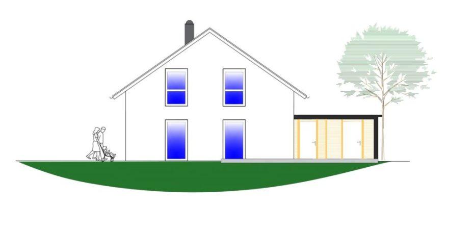 Architekturzeichnung Neubauprojekt Sandholm