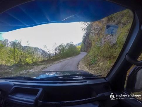 Пътят към границата на Черна Гора
