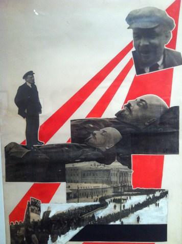 Alexander Rodchenko, Lenin's funeral, Molodaya Gvardia (Young Guard) Magazine, 1924, Photomontage with cardboard, paper, typographic print and gouache