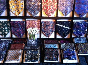 Silk cravats from the Cravat Club (cravat-club.com) which coincidentally also make for fabulous head scarves!