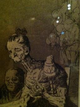 Detail from Hilan delgado (They Spin Finely), Los Caprichos, plate 44, Francisco de Goya y Lucientes, 1799