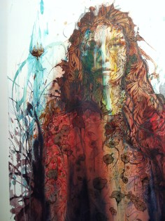 Falling Flowers, Carne Griffiths Ink, alcohol and graphite